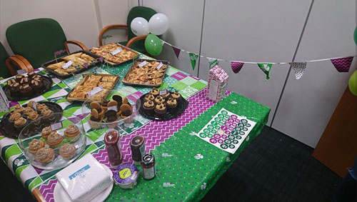 Table setup for Macmillan Cancer Support
