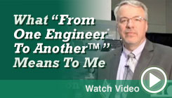Watch Bill's From One Engineer to Another Video