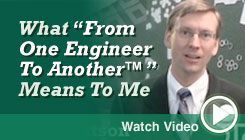 Watch Ross' From One Engineer to Another Video