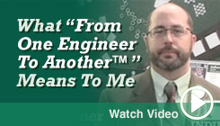 Watch Seth's From One Engineer to Another Video